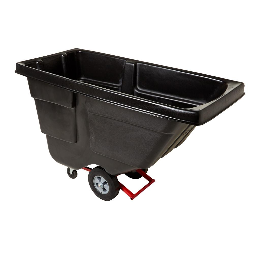 Rubbermaid FG130400BLA .5 cu yd Trash Cart w/ 450 lb Capacity, Black