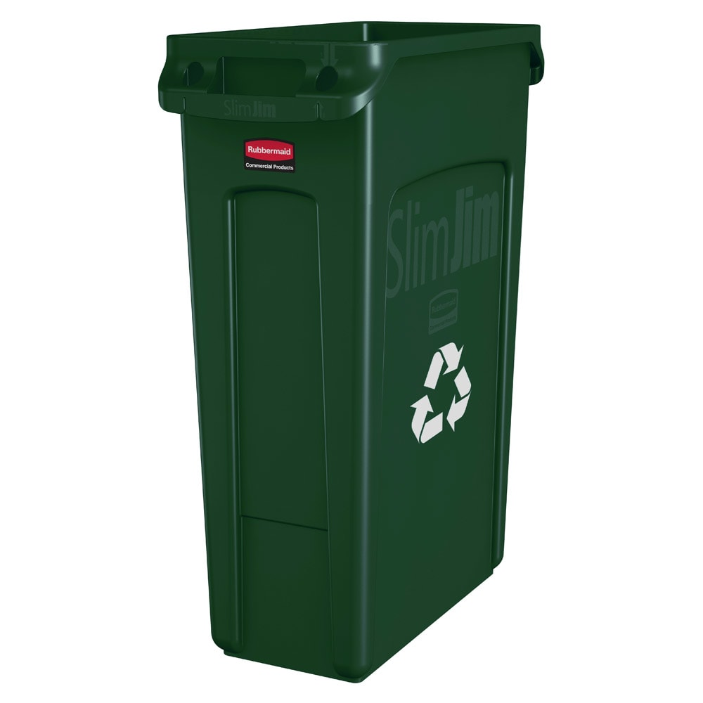 Rubbermaid FG354007GRN 23-gal Multiple Material Recycle B...
