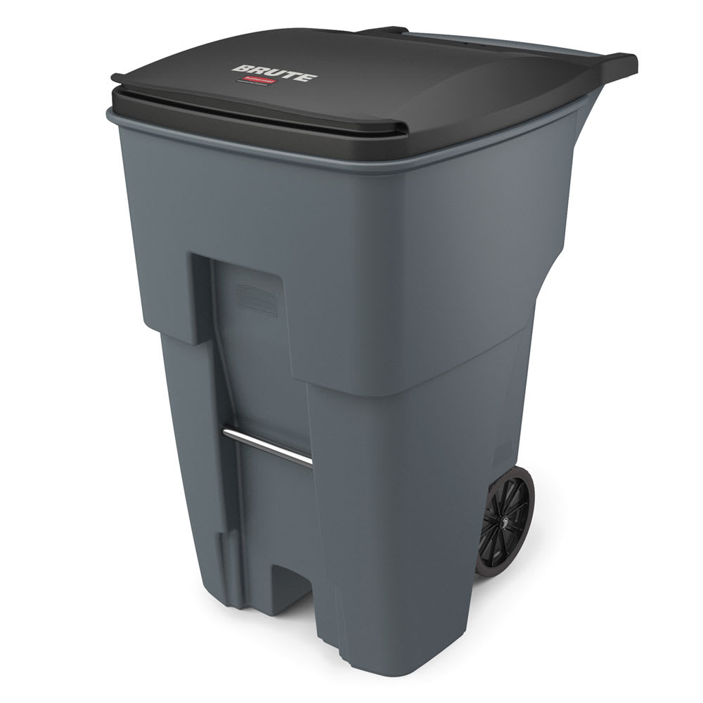 Rubbermaid Fg9w2200gray 95 Gal Utility Wheeled Trash Can