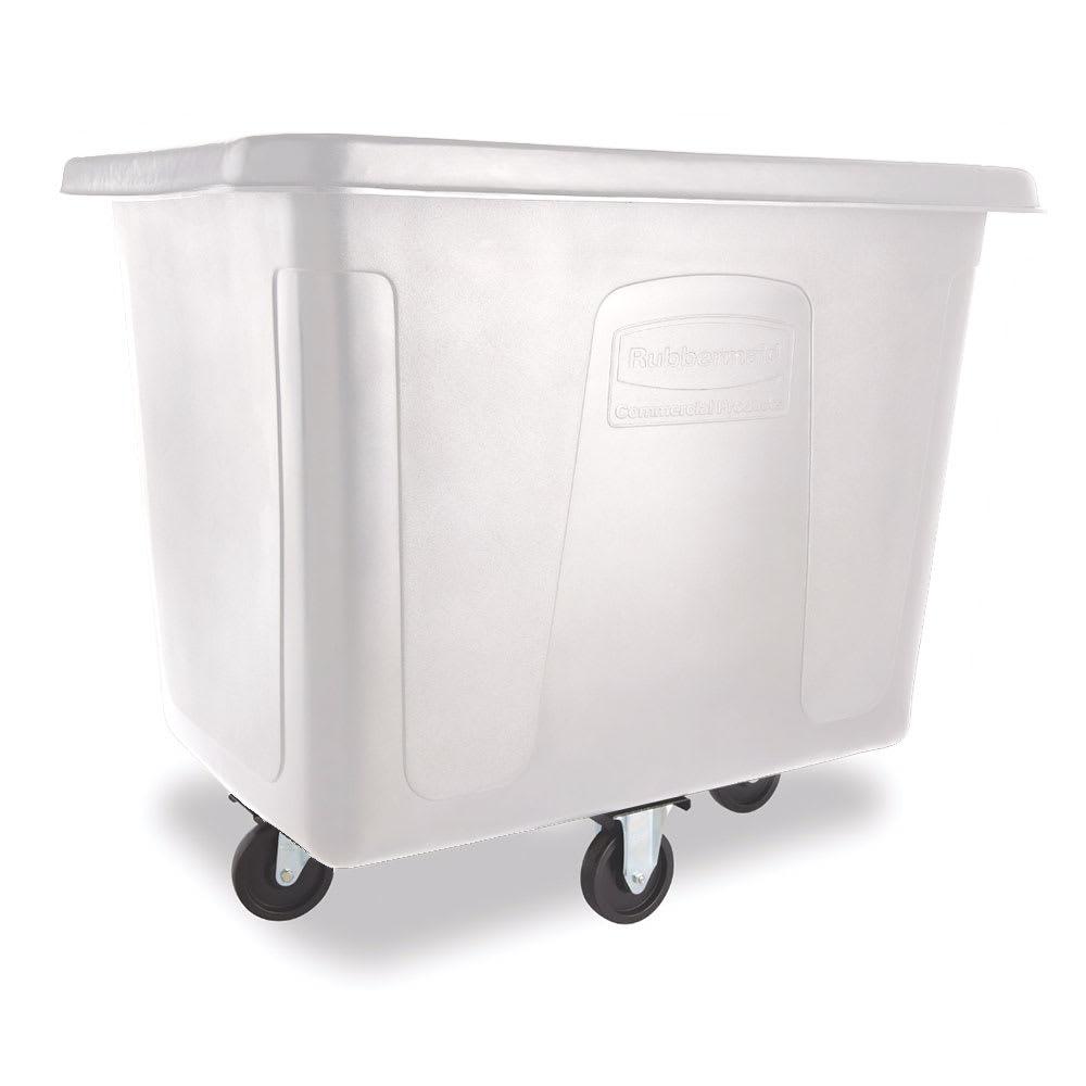 Rubbermaid FG461600 WHT .6 cu yd Trash Cart w/ 500 lb Capacity, White