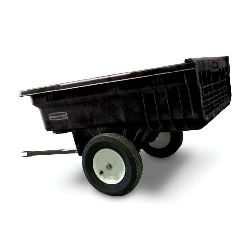 Rubbermaid FG566000 BLA .37-cu yd Trash Cart w/ 1200-lb C...