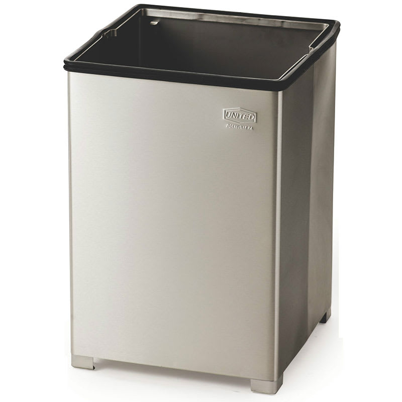 Rubbermaid FGB1414SSPL 10.5-gallon Commercial Trash Can -...