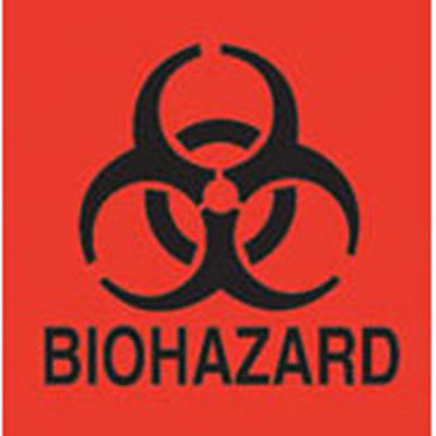 Rubbermaid FGBP1 Bio Hazard Label
