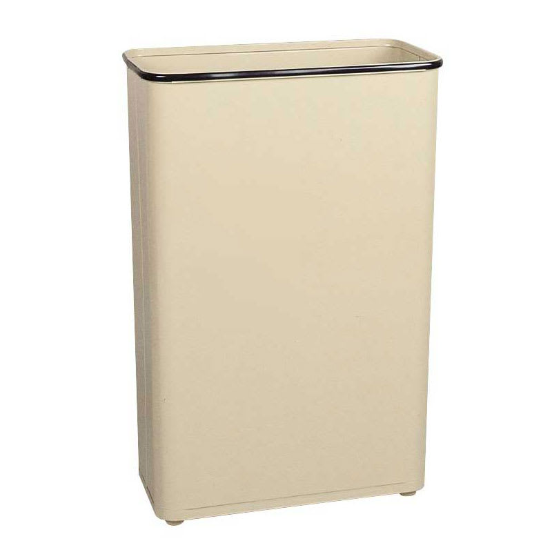 Rubbermaid FGWB96RAL 96 qt Rectangle Waste Basket - Metal...