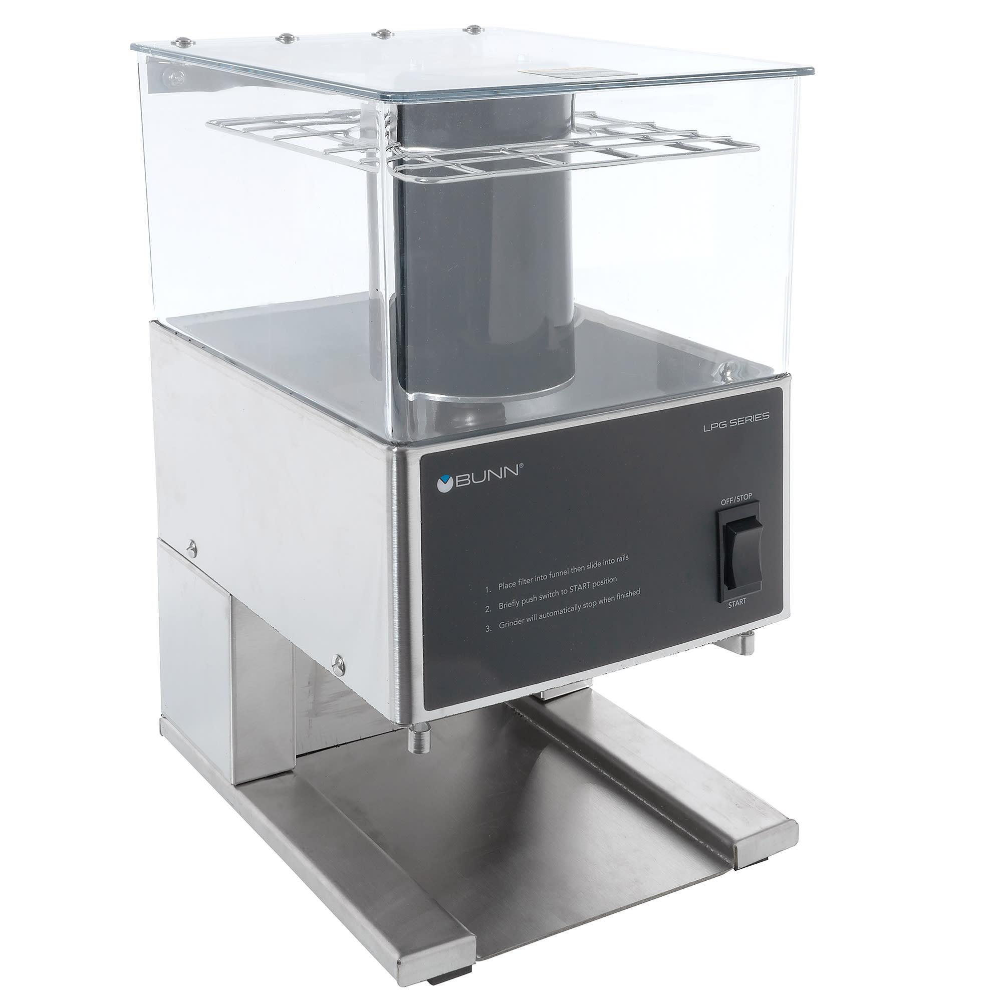 BUNN LPG Low Profile Coffee Grinder w/ 6-lb Hopper & Portion Control, 120v
