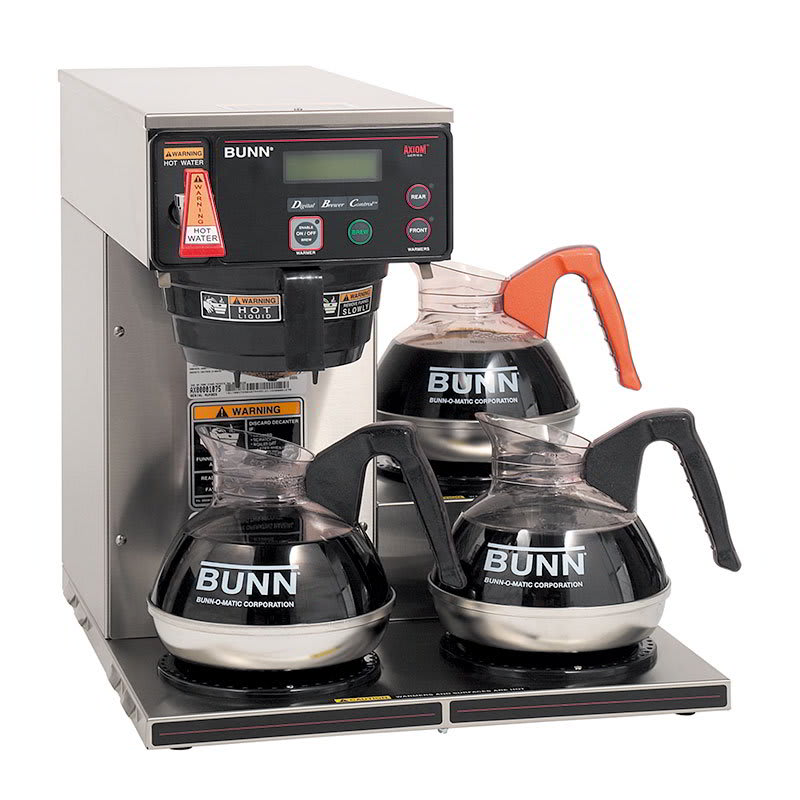 BUNN AXIOM-35-3-0003 3 Lower Warmer Coffee Brewer, Hot Wa...