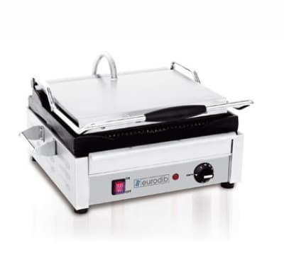 Eurodib SFE02345-120 Commercial Panini Press w/ Cast Iron...