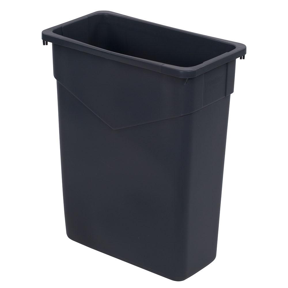 Carlisle CFS34201523 TrimLine Waste Container, 15 Gallon, Polyethylene (LLDPE), Gray, 4 Per Case