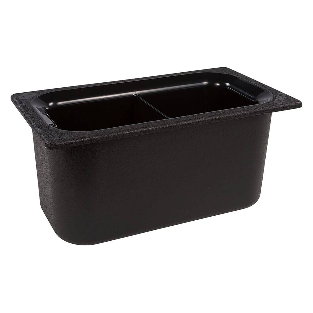 Carlisle CM110303 Third Size Food Pan - Plastic, Black