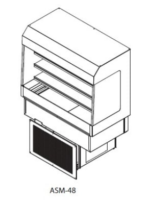Delfield ASM-36 36 Countertop Refrigerator w/ Pass Thru A...