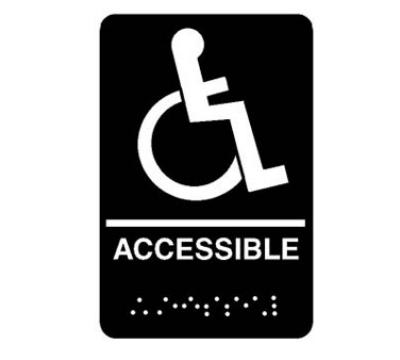 Franklin Machine Accessible Sign 6'' x 9''
