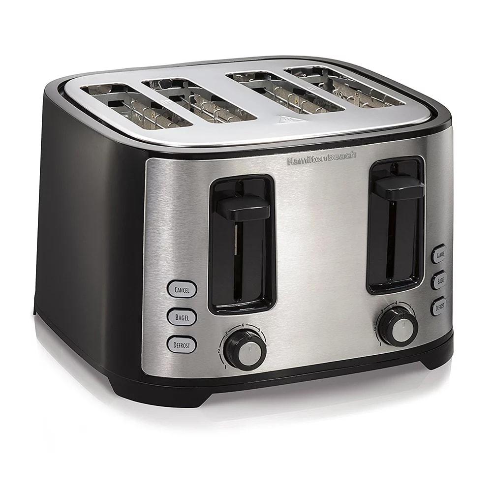 Hamilton Beach 24633 4 Slice Toaster w/ Extra Wide Slots,...