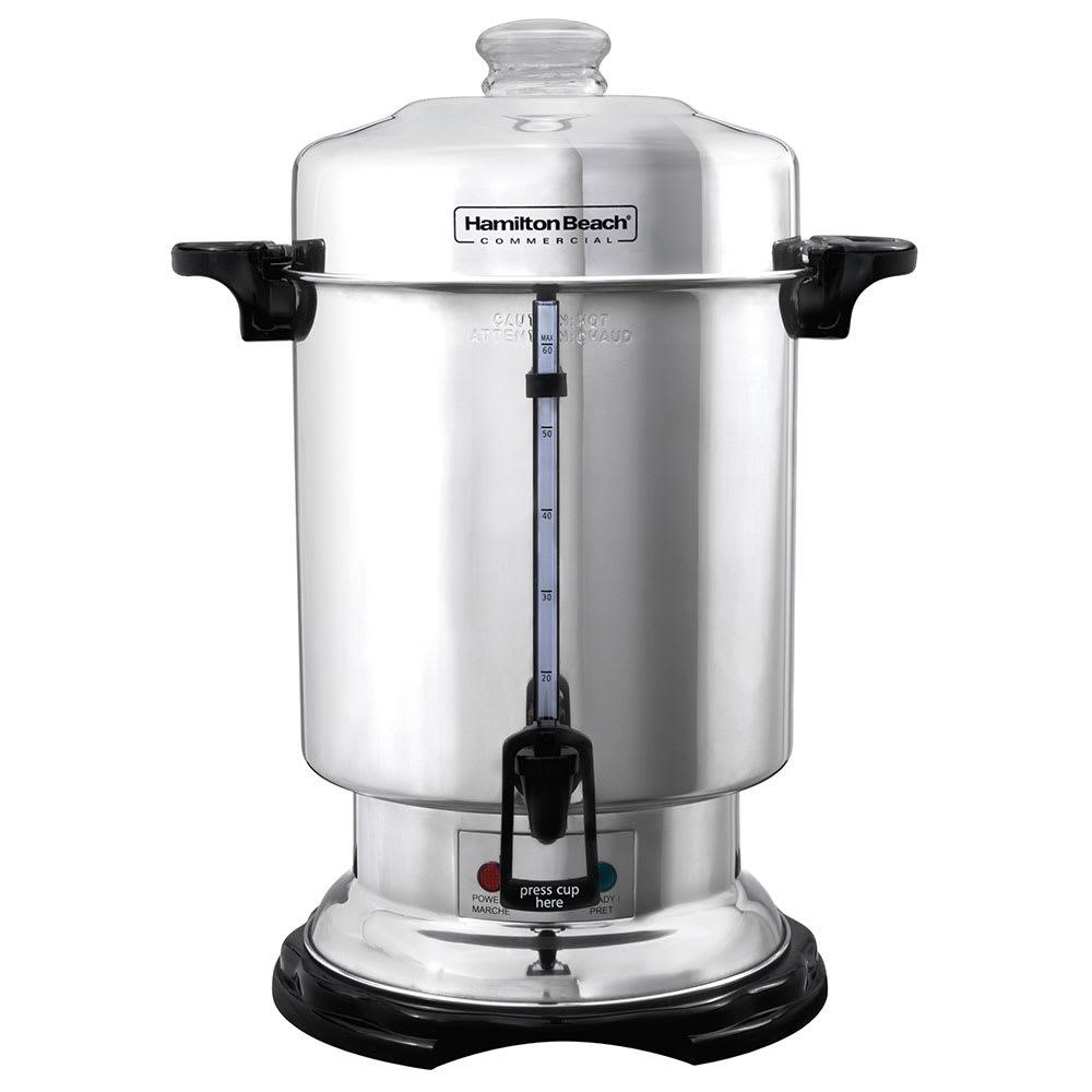 Hamilton Beach D50065 60-Cup Coffee Urn Percolator, Water...
