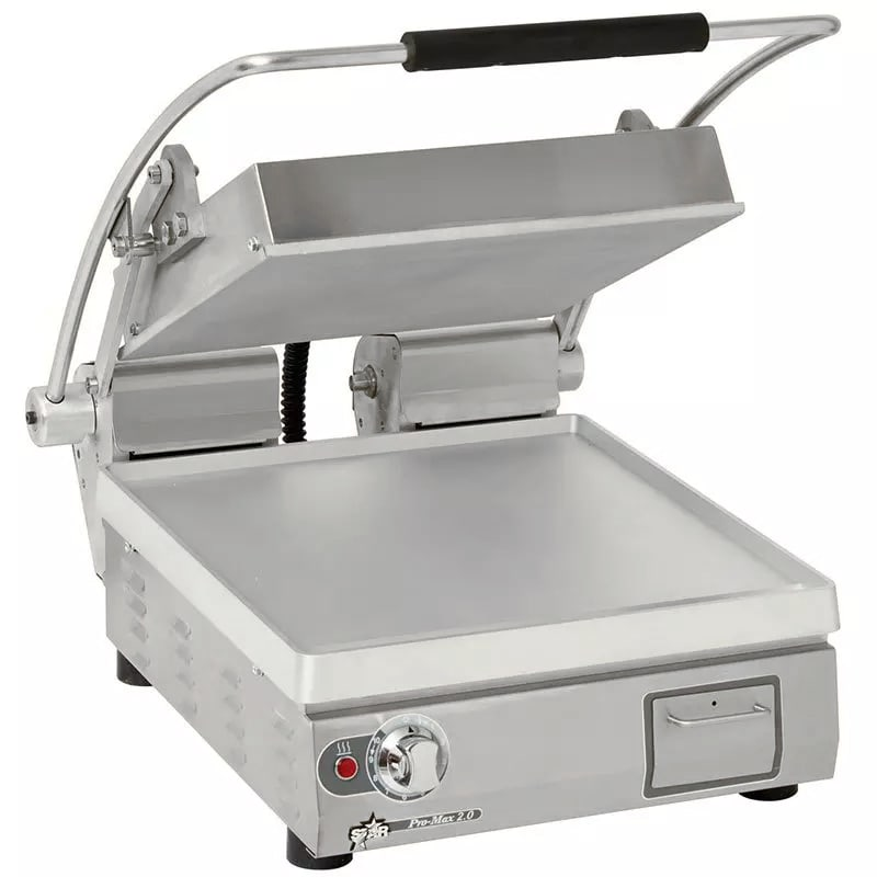 Star PST14 Commercial Panini Press w/ Aluminum Smooth Pla...