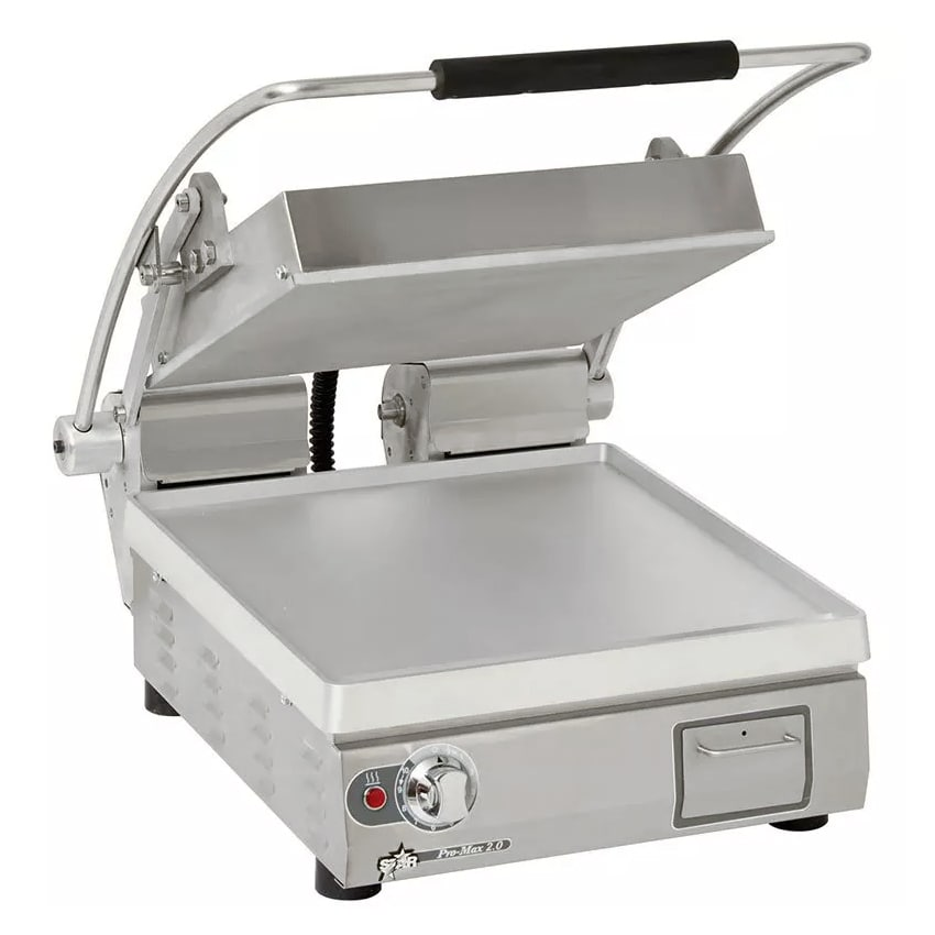 Star PST14E  Commercial Panini Press w/ Aluminum Smooth P...
