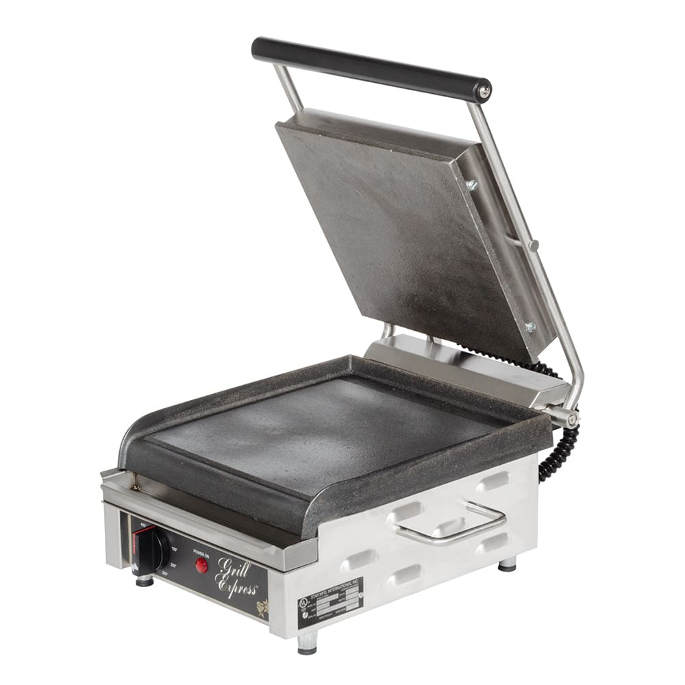 Star GX10IS Commercial Panini Press w/ Cast Iron Smooth P...