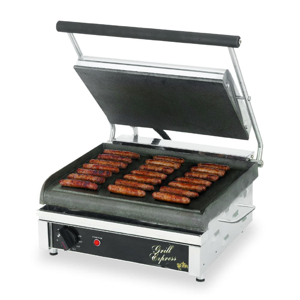 Star GX14IS Commercial Panini Press w/ Cast Iron Smooth P...
