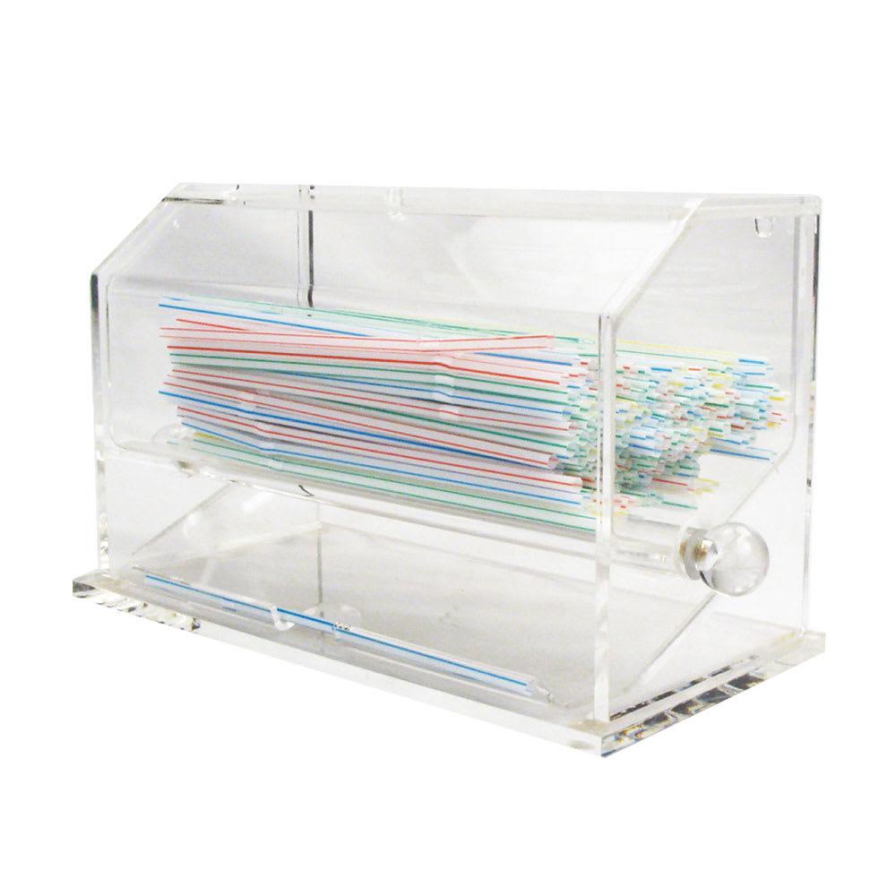 Winco ACSD-712 Straw Dispenser, Clear Acrylic