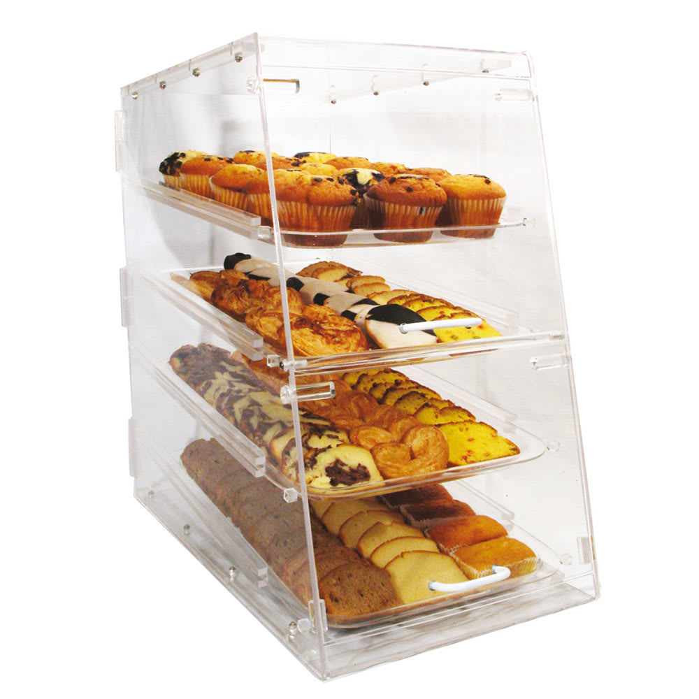 Winco ADC-4 Counter Top Display Case w/ (4) 12 x 18 Trays...