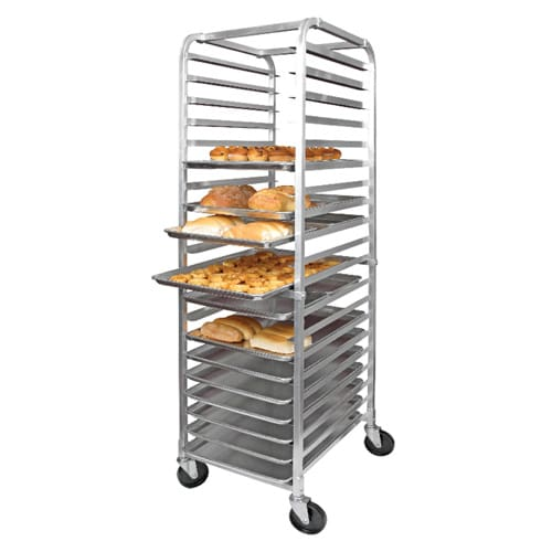 "KEGWORKS Heavy Duty Aluminum Sheet Pan Rack, 20 Tier, 68"" Tall"