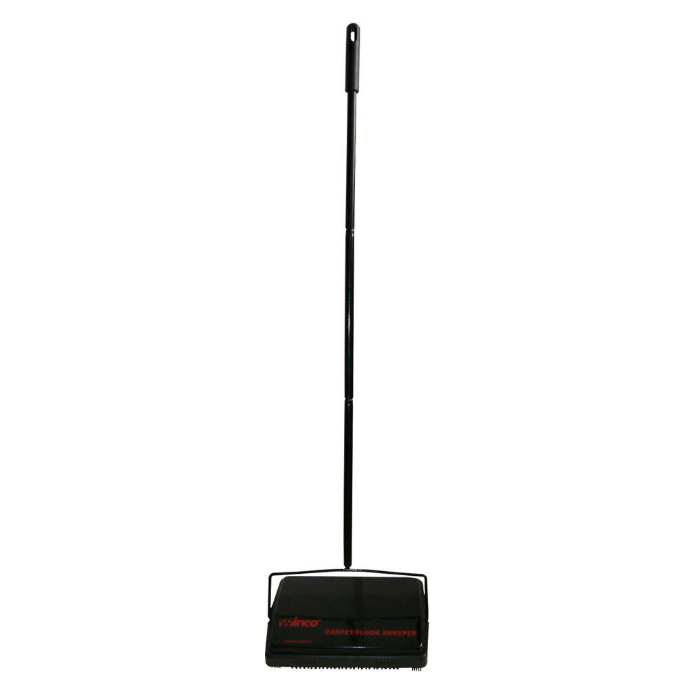 Winco FSW-11 Rotary Carpet Sweeper w/ Steel Handle & Natu...