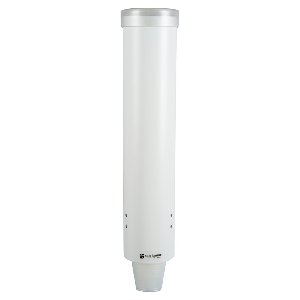 San Jamar C3165WH Medium Pull-Type Water Cup Dispenser, C...