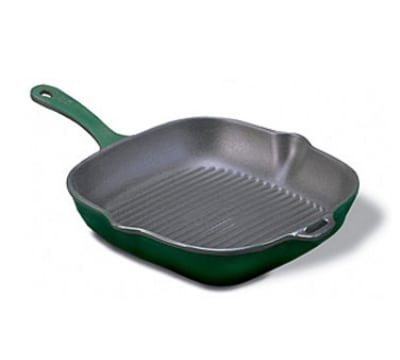 World Cuisine A1733024 9.5 Square Grill w/Handle, Grooved...