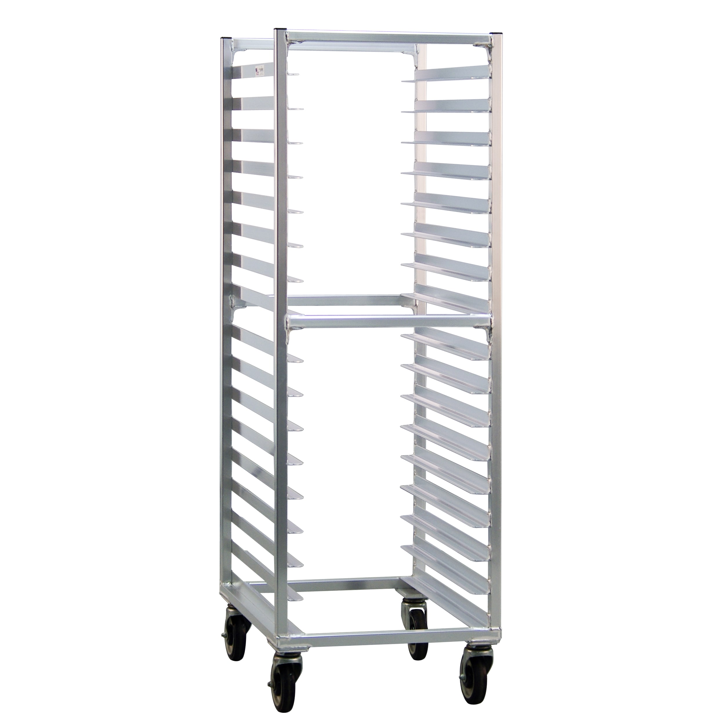 New Age 1361 20.38W 17 Bun Pan Rack w/ 3 Bottom Load Slides