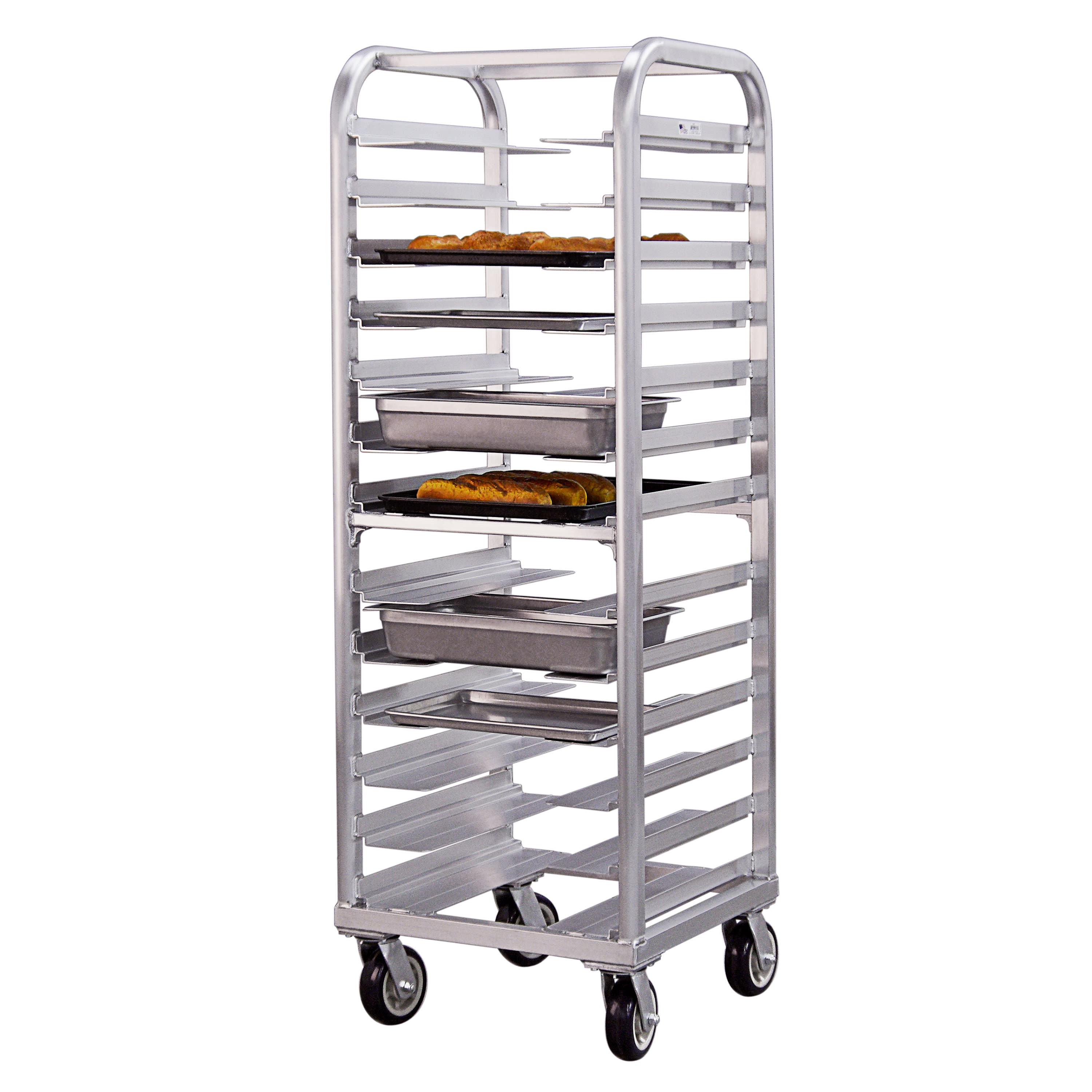 New Age 4640 25W 13-Bun Pan Rack w/ 4.5 Bottom Load Slides