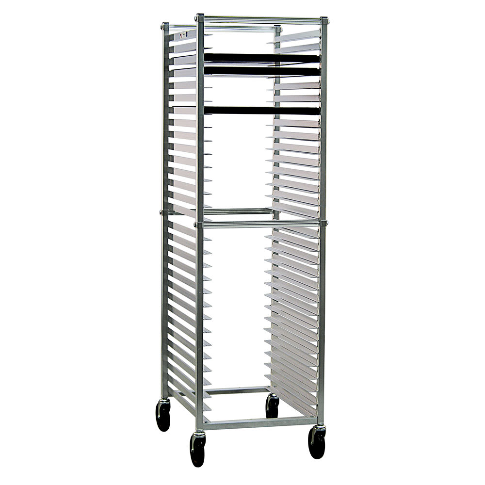 New Age 6300 20.38W 30 Bun Pan Rack w/ 2 Bottom Load Slides