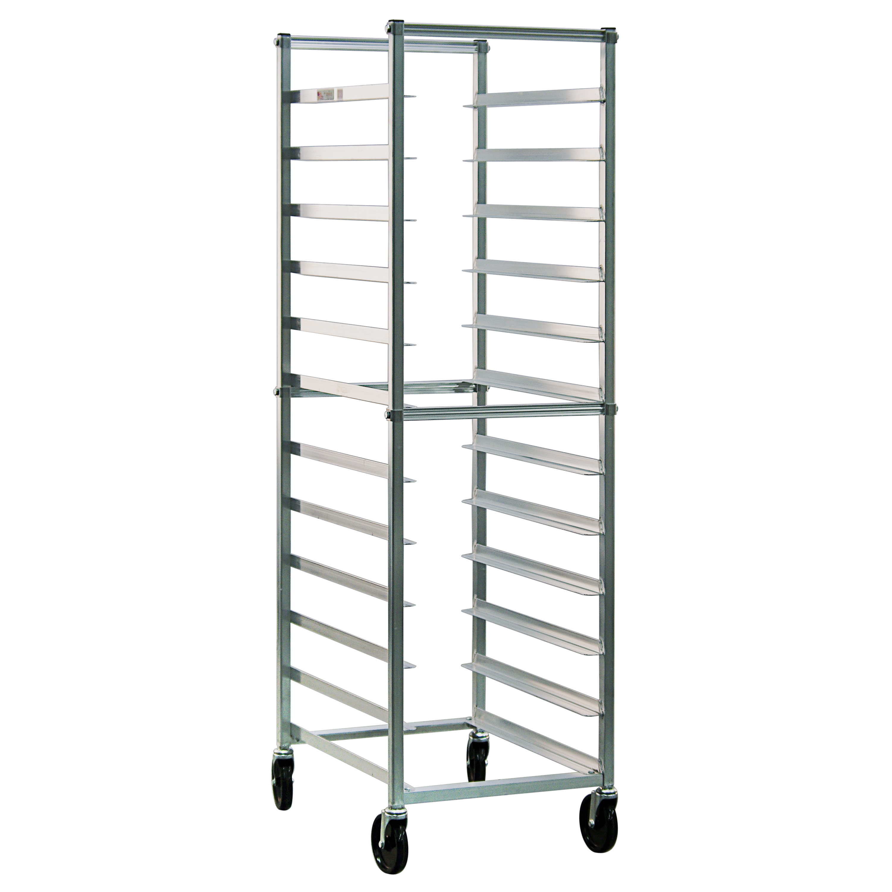 New Age Bun Pan Rack, Full Height, Open Sides, With Angle Guides On