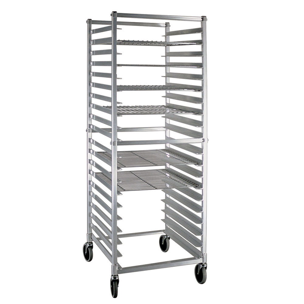 New Age NS621KD Mobile Full Height Donut Screen Rack w/ O...