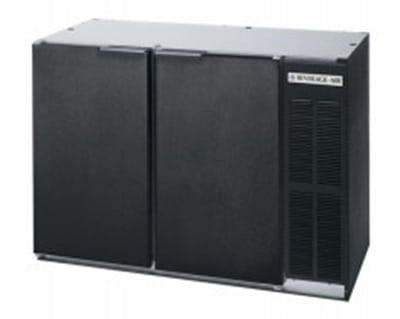 Beverage-Air BB72YF-1-B-PT 72 (3) Section Bar Refrigerator - Swinging Solid Doors, 115v