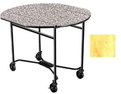 Lakeside 412 HRMAP 40 Round Drop-Leaf Room Service Table,...