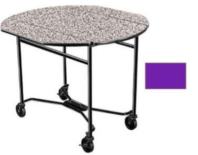 Lakeside 412 PURP 40 Round Drop-Leaf Room Service Table w...