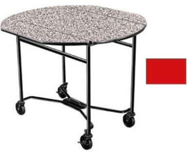Lakeside 412 RED 40 Round Drop-Leaf Room Service Table w/...