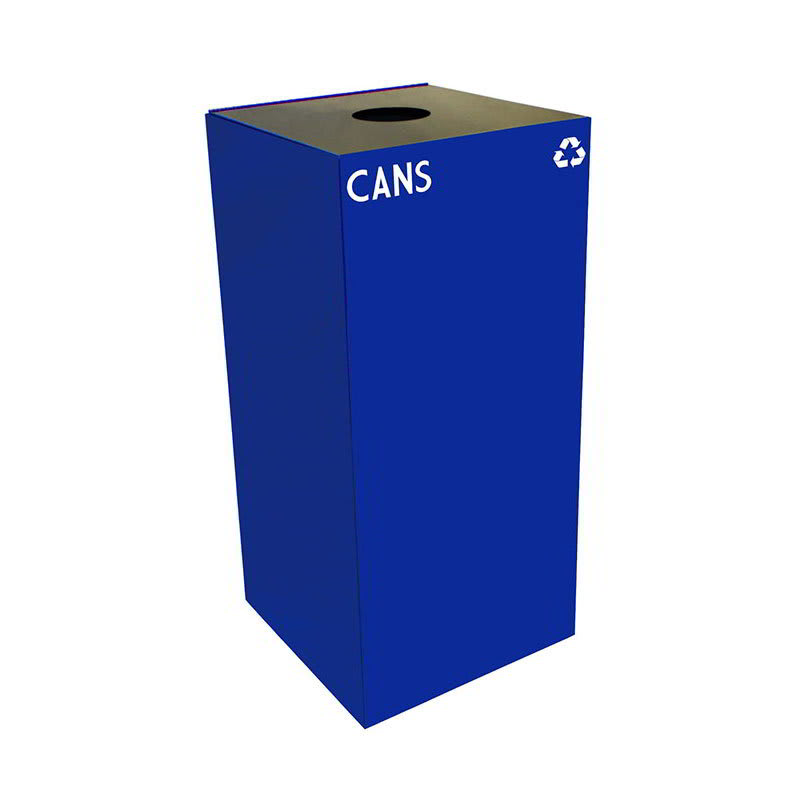 Witt 32GC01-BL 32 gal Cans Recycle Bin - Indoor, Fire Res...
