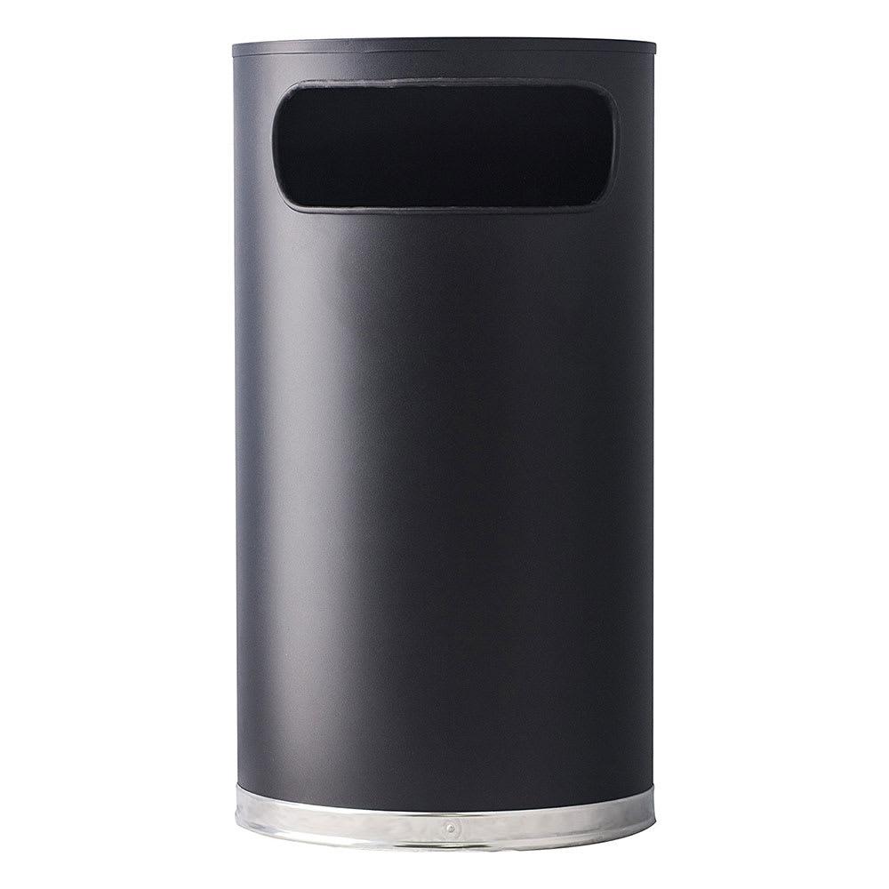 Witt 9hr Bk 9 Gal Indoor Decorative Trash Can Metal Black