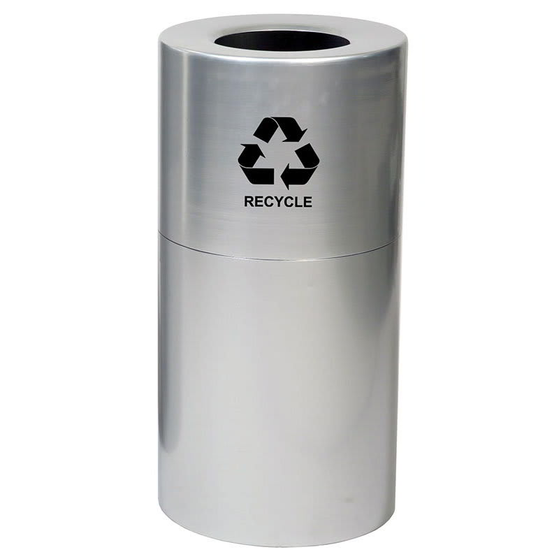 Witt AL35-CLR-R 35-gal Multiple Materials Recycle Bin - I...