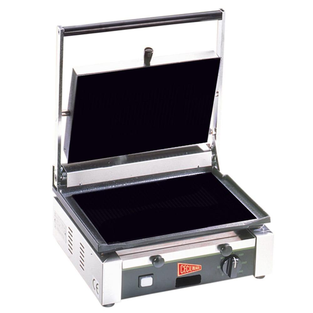 Cecilware TSG1F Commercial Panini Press w/ Cast Iron Smoo...