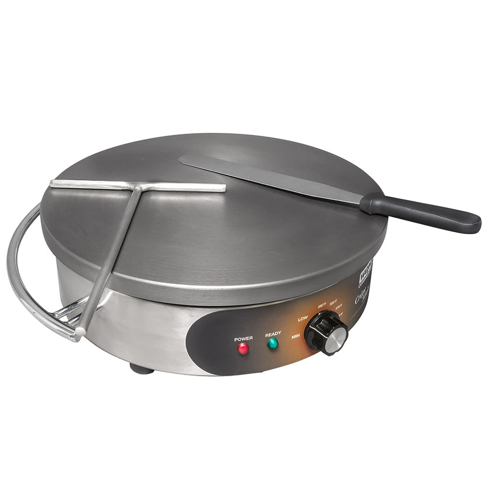 WARING-COMMERCIAL WSC160 Crepe Maker w/ 16 Cast Iron Cook...