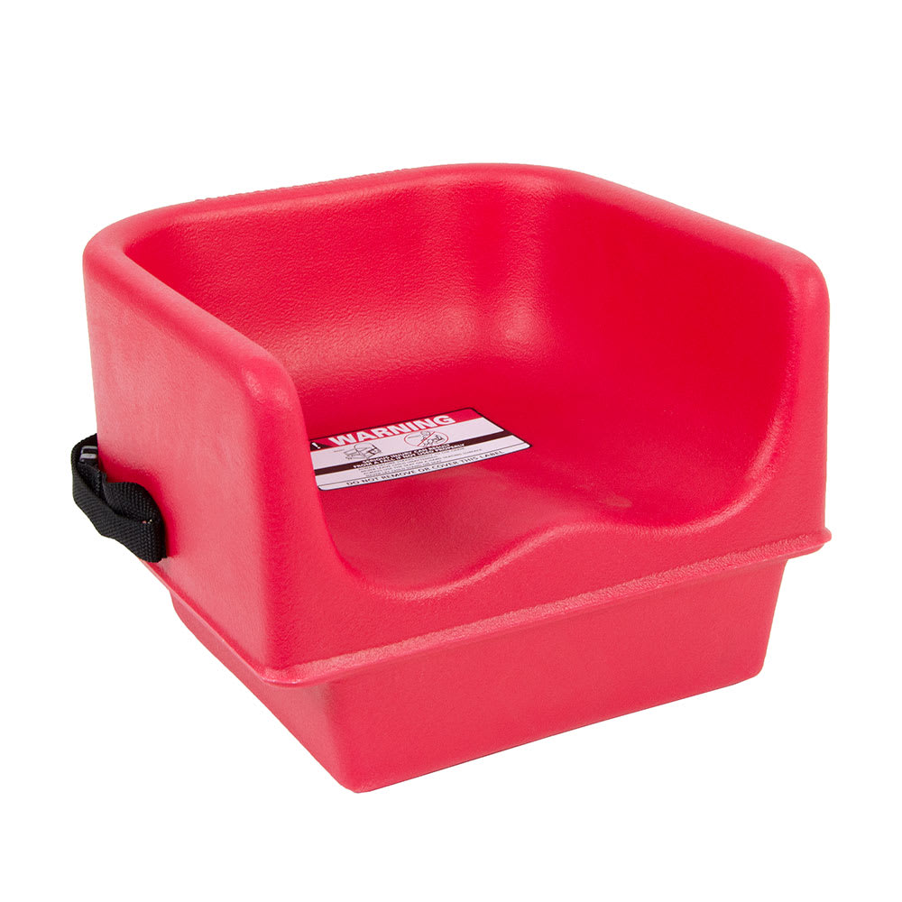 Cambro 100bcs158 Single Height Booster Seat W Safety Strap Polyethylene Hot Red