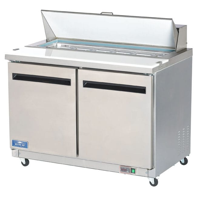 Sandwich Salad Prep Table Two Door Arctic Air Model Astr From - Sandwich prep table cooler