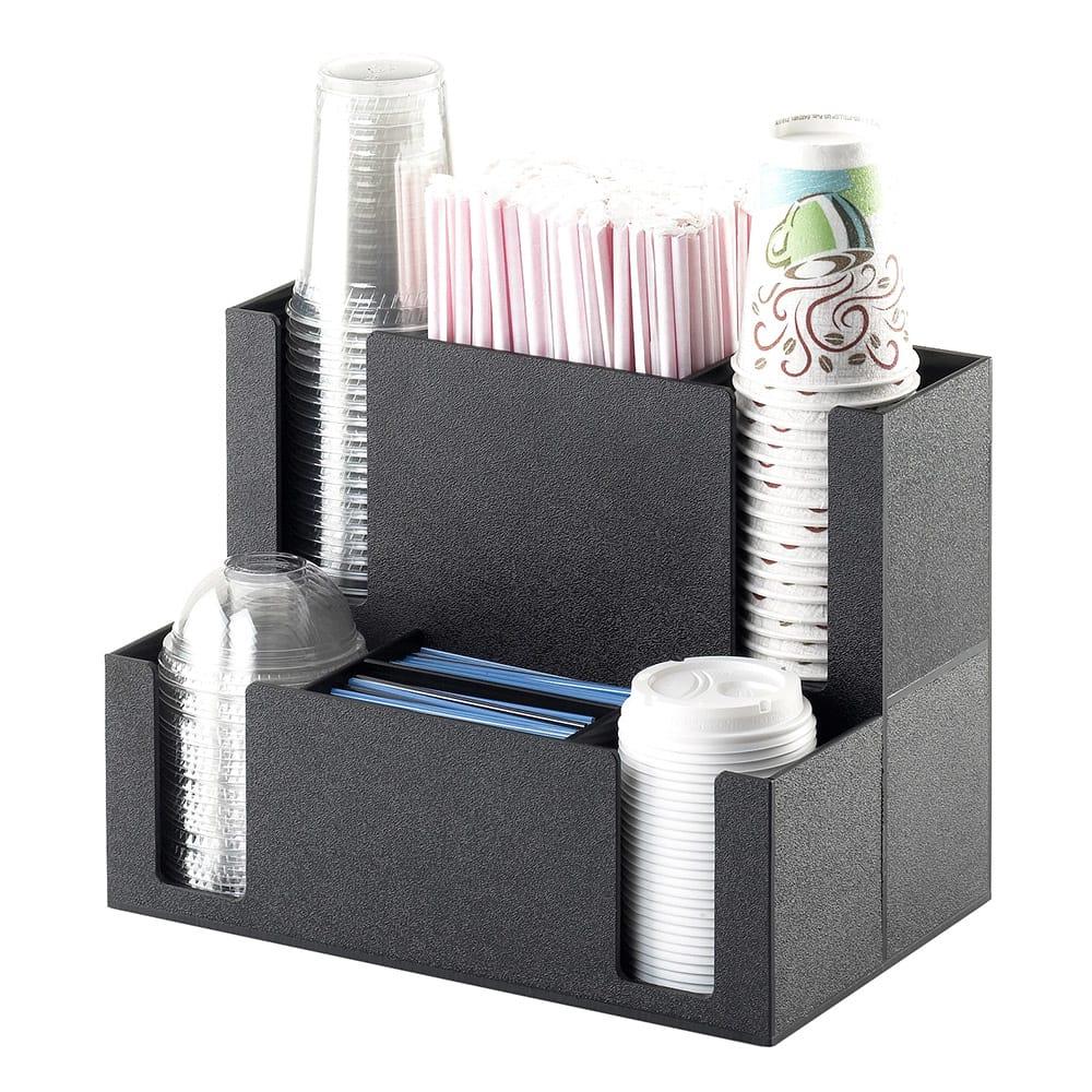 Cal-Mil 2041 Coffee Station Organizer - For Cups, Lids, Straw, Stir-Sticks