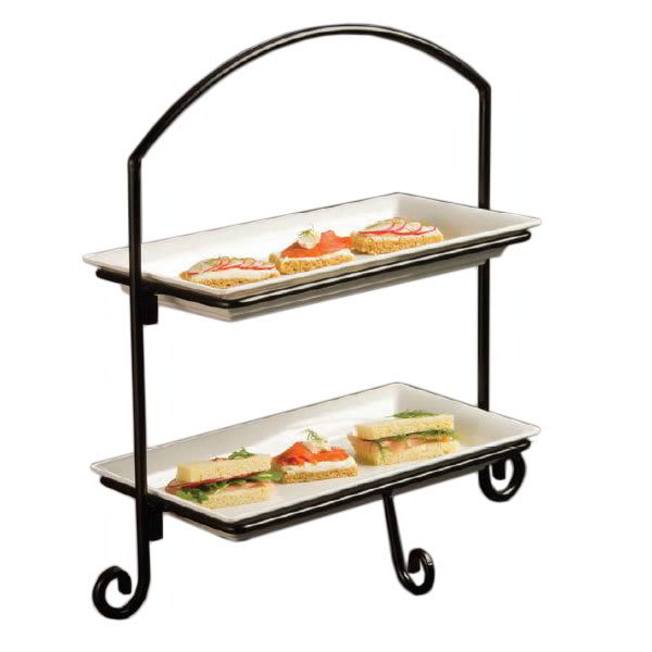 American Metalcraft IS11 2 Tier Rectangular Platter Stand...