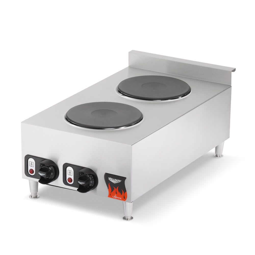 Vollrath 40739 15 Electric Hotplate w/ (2) Burners & Infi...