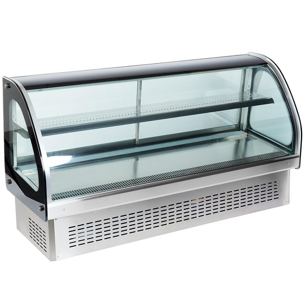 Vollrath 40844 60 Full Service Deli Case w/ Curved Glass ...