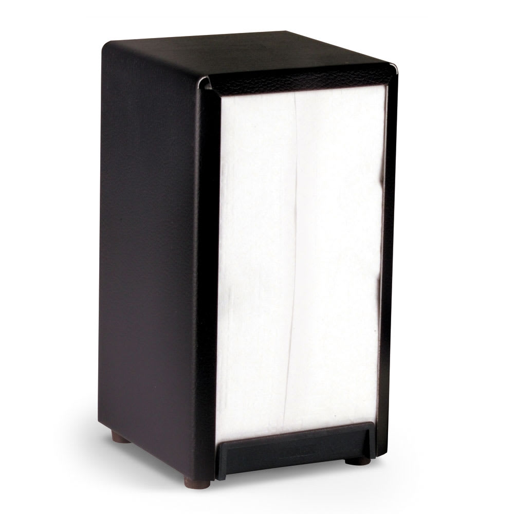 Vollrath 5500-06 Tabletop Vertical Napkin Dispenser - Black