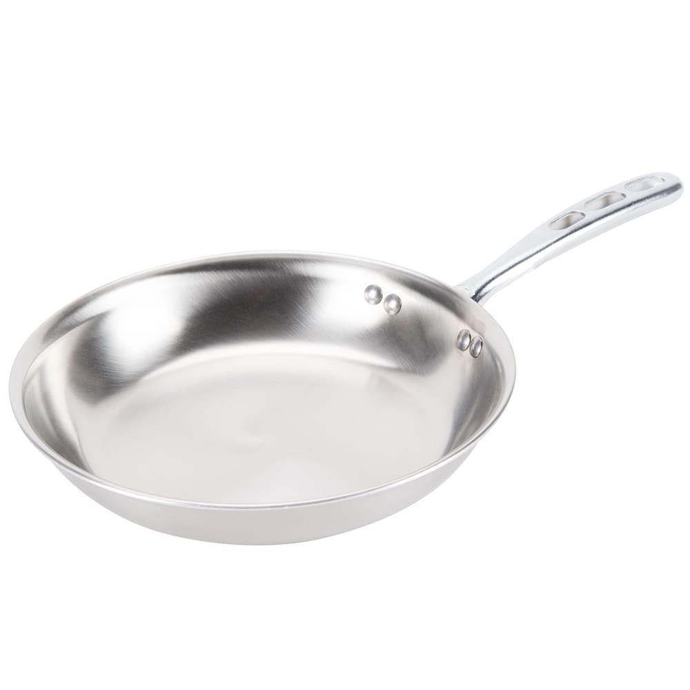 vollrath 69210 10 stainless steel frying pan w vented metal handle. Black Bedroom Furniture Sets. Home Design Ideas