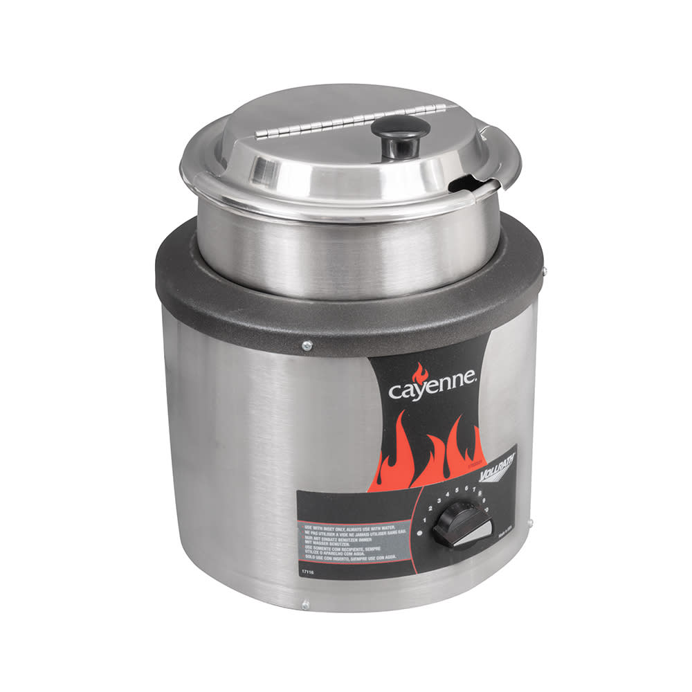 Vollrath 72430 4.125 qt Countertop Soup Warmer w/ Thermos...